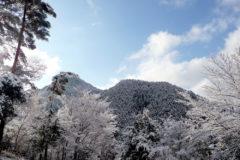 遠阪地区の雪景色